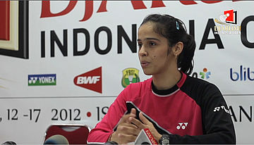 Press Conference Saina Nehwal (India) Djarum Indonesia Open Super Series Premier 2012