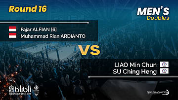 Round 16 | MD | LIAO / SU Ching Heng (TPE) vs ALFIAN / ARDIANTO (INA) | Blibli Indonesia Open 2019