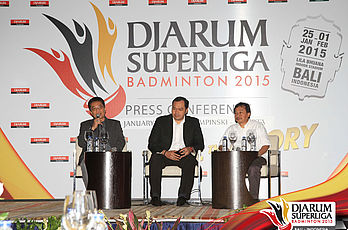 Press Conference II - Drawing Djarum Superliga Badminton 2015